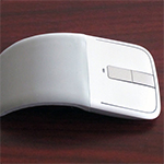 Microsoft's Light and Thin Arc Touch Bluetooth Mouse