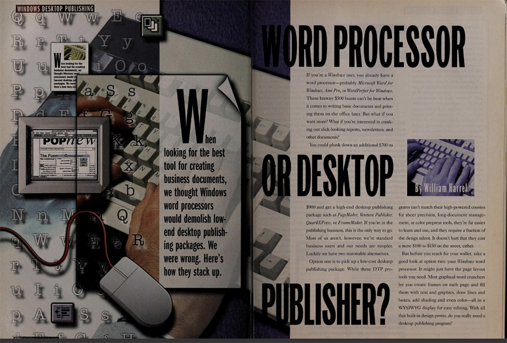 Word Processor or Desktop Publisher at PCWord